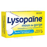 LysopaÏne Comprimés à Sucer Maux De Gorge Sans Sucre 2t/18 à VANNES