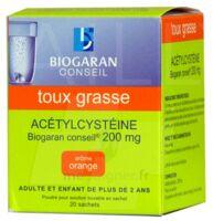 Acetylcysteine Biogaran Conseil 200 Mg Pdr Sol Buv En Sachet B/20 à VANNES