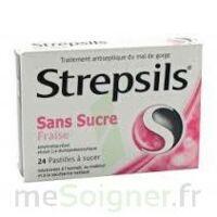 Strepsils Fraise Sans Sucre, Pastille édulcorée à L'isomalt, Au Maltitol Et à La Saccharine Sodique à VANNES