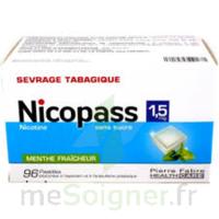 Nicopass 1,5 Mg Pastille Sans Sucre Menthe Fraîcheur Plq/96 à VANNES