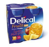 Delical Boisson Fruitee Nutriment Multi Fruits 4bouteilles/200ml à VANNES