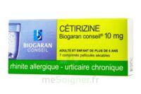 Cetirizine Biogaran Conseil 10 Mg, Comprimé Pelliculé Sécable à VANNES