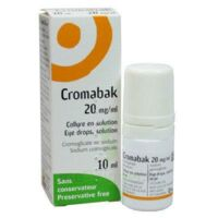 Cromabak 20 Mg/ml, Collyre En Solution à VANNES