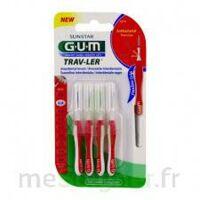 Gum Trav - Ler, 0,8 Mm, Manche Rouge , Blister 4 à VANNES
