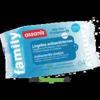 Assanis Family Lingette Antibactérien Mains Pochette/64 à VANNES