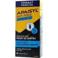 Apaisyl Anti-poux Xpress 15' Lotion Antipoux Et Lente 100ml+peigne à VANNES