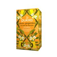 Pukka Bio Citron, Gingembre Et Miel De Manuka Tisane Immunité Citron Gingembre Miel De Manuka 20 Sachets à VANNES