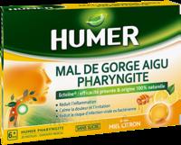 Humer Pharyngite Pastille Mal De Gorge Miel Citron B/20 à VANNES